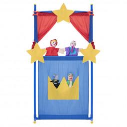Set de 4 marionnettes + Théâtre 135 cm