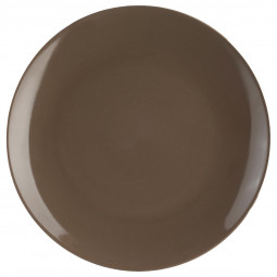 Lot de 6 assiettes plates taupes D26