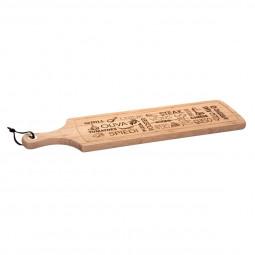 Planche à découper words en bambou 59,5 cm