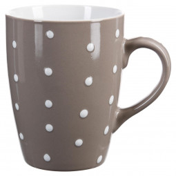Mug rond taupe à pois 32 cl