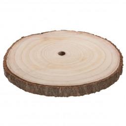 1 Assiette de présentation ronde en bois D 35 cm A l'orée des bois