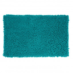 Tapis de bain maxi chenille turquoise 50x80