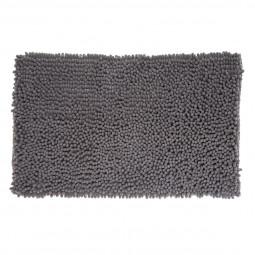 Tapis de bain maxi chenille gris 50x80