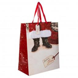 Sac Cadeau Bottes de Père Noël fourrure MM Les incontournables