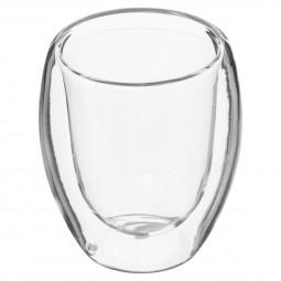 Set 2 Tasses à Expresso en verre double paroi