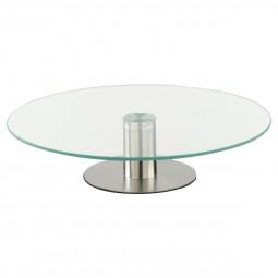 Plateau tournant en verre D30 cm