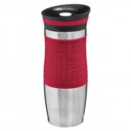 Mug isotherme double paroi rouge