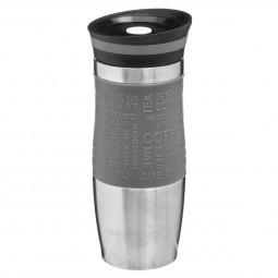 Mug isotherme double paroi gris