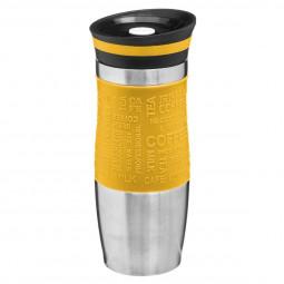 Mug isotherme double paroi jaune 35 cl