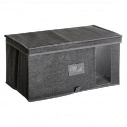 Boîte de rangement gris chiné 50x30x25