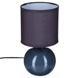 Lampe en céramique Pied Boule Gris H 25 cm