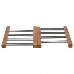 Dessous de plat extensible bambou/INOX