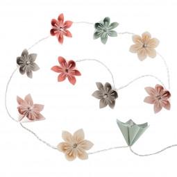 Guirlande 10 LED fleurs pastels à piles
