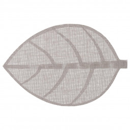 Set de table feuille gris clair 50x33