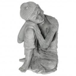 Bouddha assis en ciment  25.5X25.5X36 cm