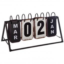 Calendrier perpétuel en métal vintage