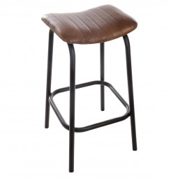 "Tabouret de bar en cuir ""Chic factory"""