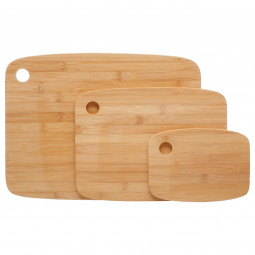 Lot de 3 planches en bambou