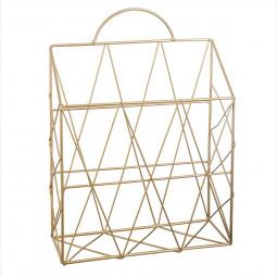 Porte revue en métal doré