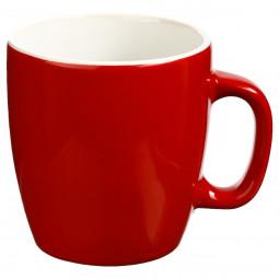 Mug Rond en Faïence coloris Rouge 18 cl Petit déj Uni