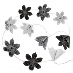 Guirlande 10 LED fleurs coloris noir à piles