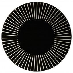 Assiette plate sun noire D27