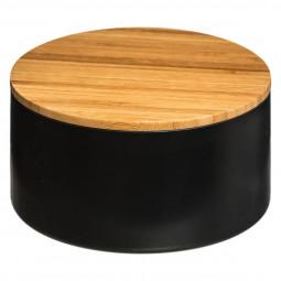 Boîte de rangement + couvercle miroir noir