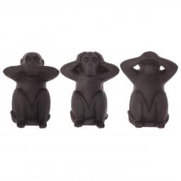 Lot de 3 singes sagesse en résine H23