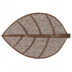 Set de table feuille chocolat 50x33