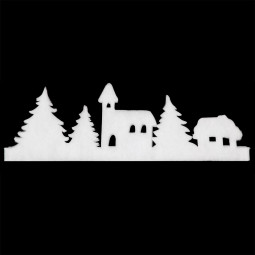Décoration de Noël Accessoires neige Bandeau Longueur 1 mètre 80 Sous son blanc manteau