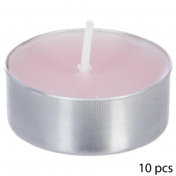 Lot de 10 bougies parfumées rose