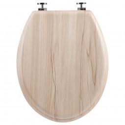 Abattant WC en bois clair