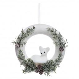 Décoration de Noël Couronne décorée D 22 cm Un Noël kinfolk