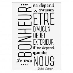 Sticker texte Dalaï Bonheur 50x70