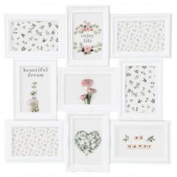 Pêle-mêle romance plastique blanc - 9 photos