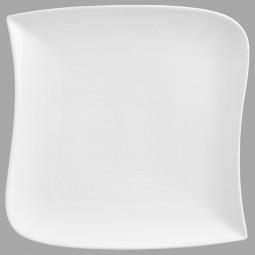 Assiette de présentation carrée vague  30cm
