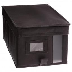 Boîte de rangement gris anthracite 20x30x15