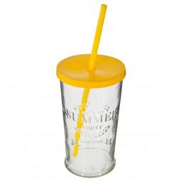 Verre à limonade avec paille 45 cl