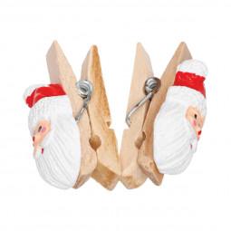 Décoration de Noël Set de 12 Pinces Sujet en résine 3.5 cm Comptoir de Noël