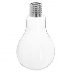 Vase ampoule verre/alu D13XH22