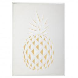 Toile imprimée cadre ananas 50X70