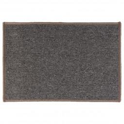 Tapis uni gris chiné 40x60 cm