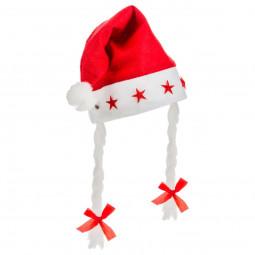 Bonnet de Noël Lumineux 5 LED avec tresses pour Femme taille unique Les incontournables