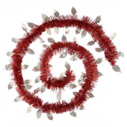 Guirlande de Noël avec déco feuilles glacées L 200 cm American dream