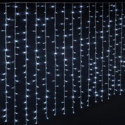 Guirlande lumineuse d'extérieur Rideau 150 LED Blanc froid 10 Tombées de lumière et 8 Jeux de lumière