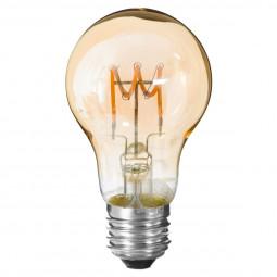 Ampoule LED torsadé ambre A60 2W