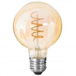 Ampoule LED torsadé ambre G95 4W