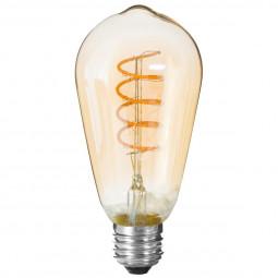 Ampoule LED torsadé ambre ST64 4W