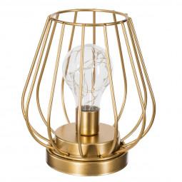 Lampe en métal filaire microled OR H18