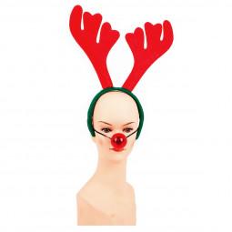 Serre-tête de Noël avec Nez lumineux pour Adulte taille unique Les incontournables